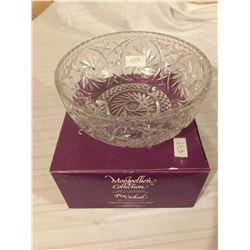 439-PINWHEEL CRYSTAL FRUIT BOWL 8 INCHES   MADE IN EAST GERMANY