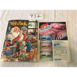 452-VINTAGE SEARS WISHBOOK CATALOGUE 1991 WINTER TOYS/CHRISTMAS DEPT/VIDEO GAMES STORE