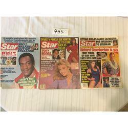 454-STAR MAGAZINE LOT DEC 24/85, JULY15/86, APRIL24/90