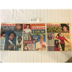 455-NATIONAL ENQUIRER LOT DEC24/85.MAY2/89, AUGUST28/90