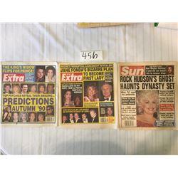 456-NEW EXTRA APRIL17/90, AUG21/90 THE SUN DEC31/1985
