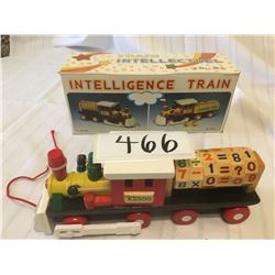 466-WOODEN INTELLIGENCE TRAIN WITH NUMBERS MINT PRE1995