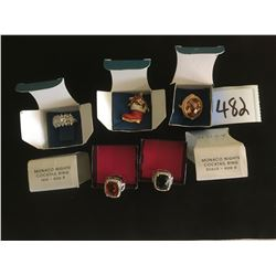 482-COLLECTION OF 5 AVON STATEMENT RINGS