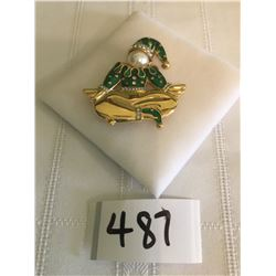 """487-FIFTH AVENUE COLLECTION MINT GENUINE AUSTRALIAN CRYSTAL"""" CHUCKLES CLOWN"""" PIN"""