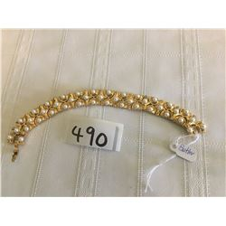 490-FIFTH AVENUE COLLECTION GOLD/PEARL 6.5 INCH BRACELET