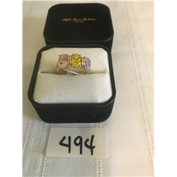494-FIFTH AVENUE COLLECTION MULTI-GEMSTONE STATEMENT RING SIZE 7
