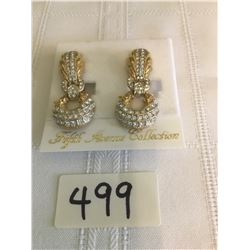 499-FIFTH AVENUE COLLECTION STATEMENT GENUINE AUSTRALIAN CLIP EARRINGS