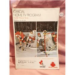 Home TV Hockey Program Moscow Series Sept 1972