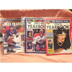 NHL Hockey News Yearbooks 1993-95 (3)