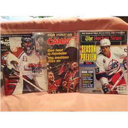 NHL Hockey News 1986, 1993 (3 magazines)