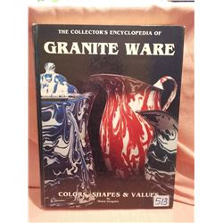 Resource book, Granite Wear- Collector's Encyclopedia, signed by author, Helen Greguire