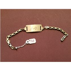 ID Bracelet, Gold Plate on Sterling, dated May 10, 1945
