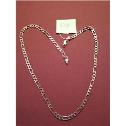 Sterling silver necklace, 18""