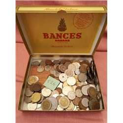 Cigar box with coins