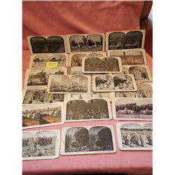 Stereotype cards, lot of 23 Holy Land scenes