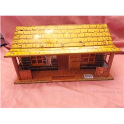 Marx toy tin B-M-B ranch house, 1950's