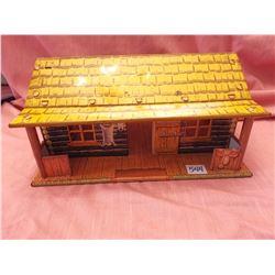 Marx toy tin B-M-B ranch house, 1950's