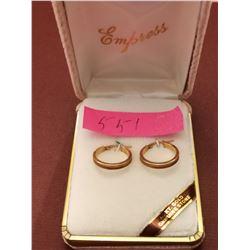 14 kt Gold hoop earrings