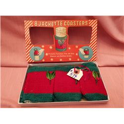 Vintage Christmas drink jackets, made in Japan
