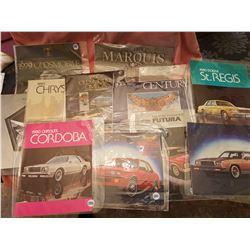 Lot of car brochures (10)