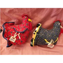 Fabric sewing hens (2)