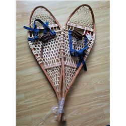 Snowshoes with leather harness