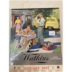 WATKINS ADVERTISING CALENDAR - FULL PAD 1955