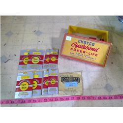 """CHRYSLER """"CHRYCO """" CYCLE ROUND BRAKE SHOE ASSEMBLY WITH ORIGINAL CONTENTS"""