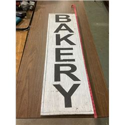 "VINTAGE STYLED HAND PAINTED "" BAKERY"" SIGN WOOD"