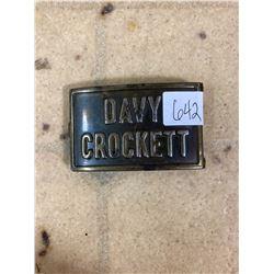 VINTAGE DAVY CROCKETT BELT BUCKLE W/ BELT M.V. 9-9-0 #5 /4181 /0