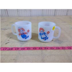RAGGEDY ANNE AND ANDY VINTAGE COFFEE CUPS