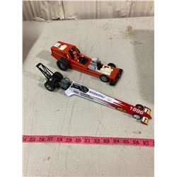 DIE-CAST TONKA PULL BACK DRAGSTER