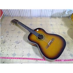 """AWAI"" HOLLOW BODY GUITAR SUNBURST FINISH 1950'S-60'S JAPAN (NEW STRINGS)"