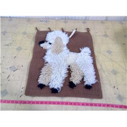 BOHO-MCM LATCH HOOK POODLE WALL HANGING