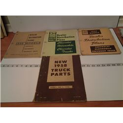 3 GM books 1958, 59, 60 & truck parts 1958