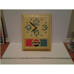 1980's Pepsi clock (works)
