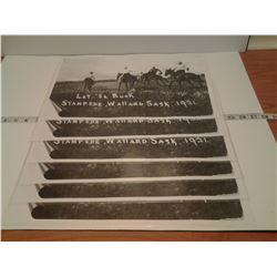 6 Let 'er Buck place mats Stampede Wallard, SK 1921