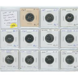 11-25 CENTS  1968 -2007 VARIOUS DATES
