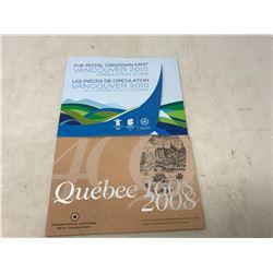 1608-2008- QUEBEC SET,2010 VANCOUVER SET