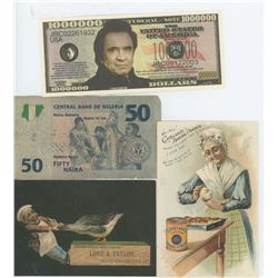 MISC PAPERS, NIGERIA 50, JOHNNY CASH 1,000,000.00