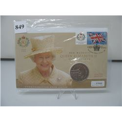 2006 QUEEN ELIZABETH 80th BIRTHDAY COMMEMORATIVE COIN COVER (Great Britain)