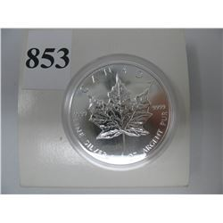 1994  1 TROY OUNCE .9999 SILVER CANADIAN  $5.00 MAPLE LEAF - Cased
