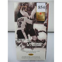 1997 Brilliant Uncirculated Dollar (.925 Silver) and Silver Commemorative Pin - 1972 Team Canada