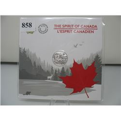 2017 CANADIAN $3 SILVER COIN - .9999 PURE SILVER - The SPIRT of CANADA