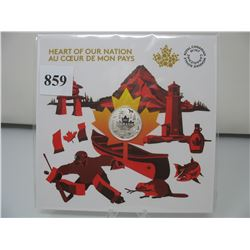 2017 CANADIAN $3 SILVER COIN - .9999 PURE SILVER - HEART of OUR NATION