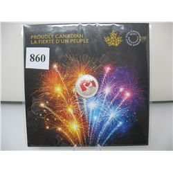 2017 CANADIAN $5 SILVER COIN - .9999 PURE SILVER - PROUDLY CANADIAN (Coloured)