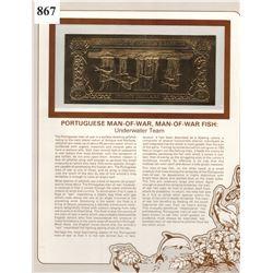 GOLD BANK NOTE - ANTIGUA & BARBUDA - PORTUGUESE MAN-OF-WAR - 30 DOLLARS - LEGAL TENDER