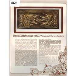 GOLD BANK NOTE - ANTIGUA & BARBUDA - QUEEN ANGELFISH - 30 DOLLARS - LEGAL TENDER
