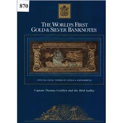 GOLD & SILVER BANK NOTE - ANTIGUA & BARBUDA - CAPT COCKLYN / BIRD GALLEY - 100 DOLLARS - LEGAL TENDE