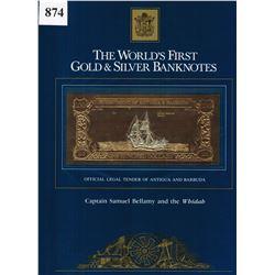 GOLD & SILVER BANK NOTE - ANTIGUA & BARBUDA - CAPT BELLAMY / WHIDAH  - 100 DOLLARS - LEGAL TENDER